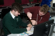 Joseph Murphy and Andrew O'Callaghan from Colaiste Chriost Ri.